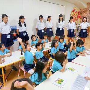 神奈川県立横浜緑ケ丘高校の生徒見学